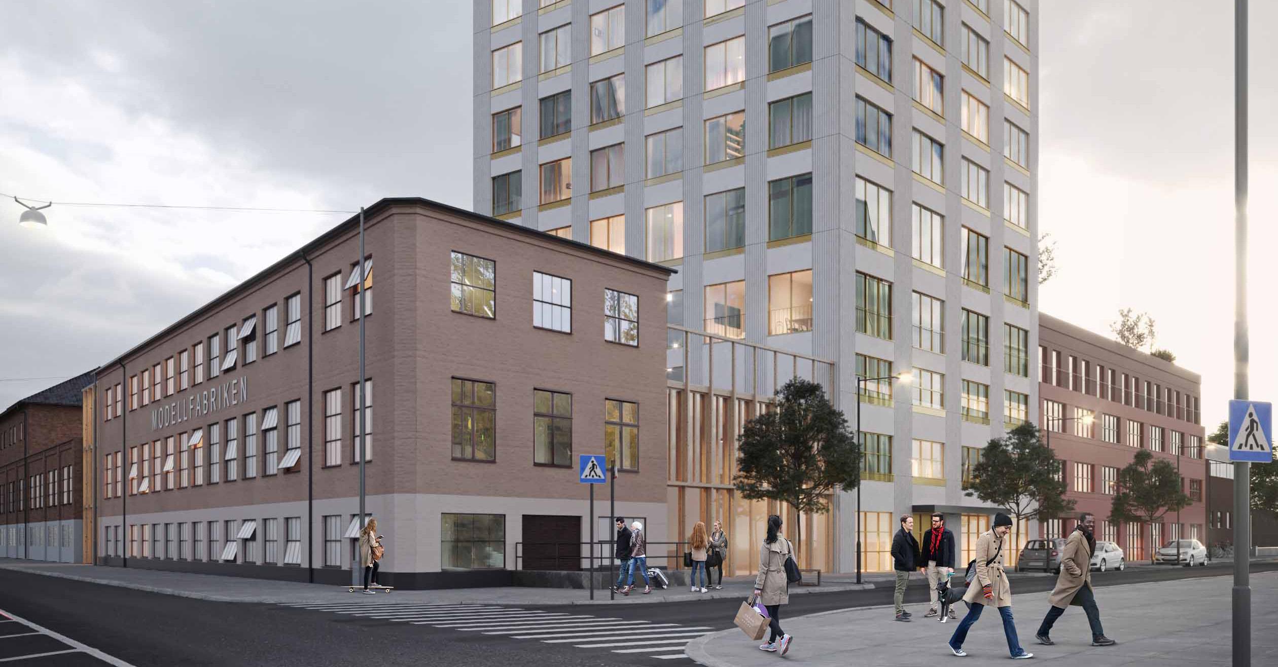 Strategisk arkitektur utförd i kvarteret Väduren i Eskilstuna.